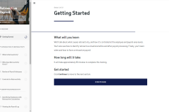 Getting started page