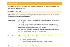 Virtualisation Basics